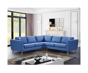 ATLANTIC Καναπές Σαλονιού Καθιστικού Γωνία - Ύφασμα Μπλε