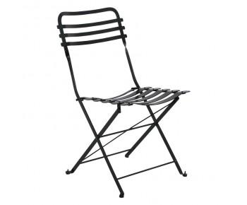 ΖΑΠΠΕΙΟΥ Καρέκλα Μέταλλο Βαφή Μαύρο