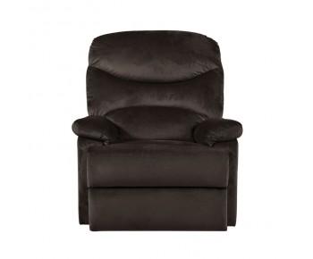 LUISA Πολυθρόνα Relax Σαλονιού - Καθιστικού Σκούρο Καφέ Velure