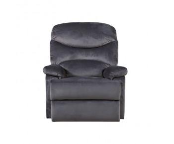 LUISA Πολυθρόνα Relax Σαλονιού - Καθιστικού Σκούρο Γκρι Velure