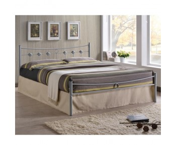 DUGAN Κρεβάτι Διπλό Μέταλλο Βαφή Silver