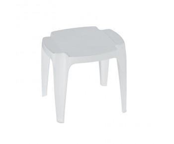 BALI Τραπεζάκι Ξαπλώστρας Στοιβαζόμενο Πλαστικό Άσπρο