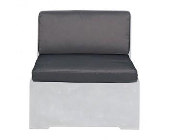 CONCRETE Set Μαξιλάρια Καρέκλας - Γκρι Ύφασμα Water Repellent - 2 Tεμάχια