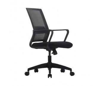 BF2115 Πολυθρόνα Γραφείου Μαύρο Mesh - Ύφασμα Μαύρο