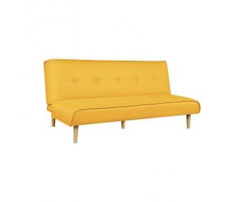 BEAT Καναπές - Κρεβάτι Σαλονιού - Καθιστικού Ύφασμα Κίτρινο