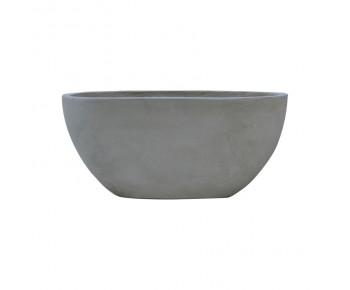 FLOWER POT-4 Cement Grey 56x27x26cm