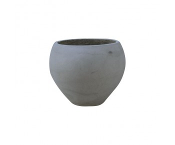 FLOWER POT-5 Cement Grey Φ32x26cm