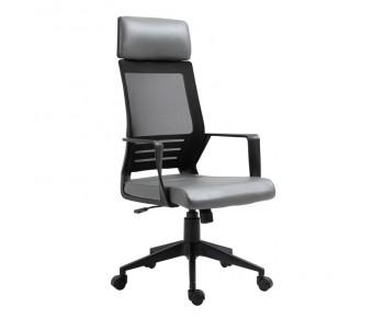 BF2500 Πολυθρόνα Γραφείου Διευθυντή Mesh Μαύρο - Pu Γκρι